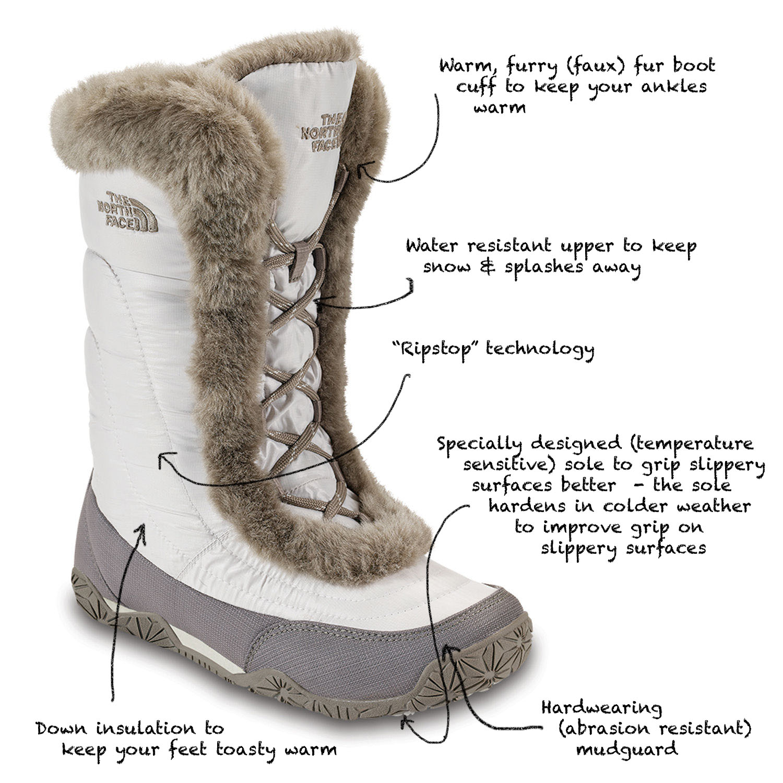 womens northface winter boots